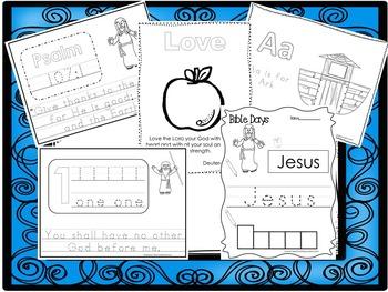 250 Bible Learning Worksheets Download. Preschool-Kinderga