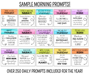 250+ DAILY WRITING PROMPTS AND CUSTOMIZABLE JOURNAL ENTRIES