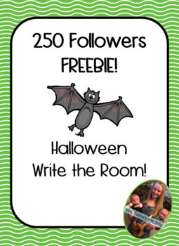 250 Followers FREEBIE! Halloween Write the Room