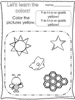250 Printable Preschool Learn Our Colors Worksheets. Homeschool and Preschool