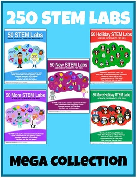 250 STEM Labs - 5 books in 1 - stem challenges physics projects experiments