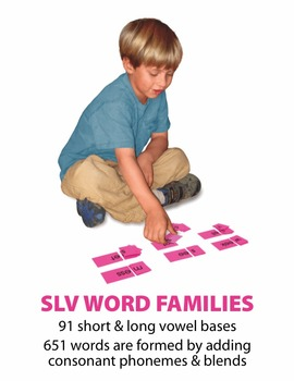 Short/Long Vowel Word Families Manipulatives