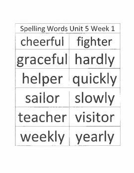 2.5.1 RS Weekly Work Packet, Second Grade, Reading Street