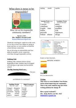 2.5.2 Carl The Complainer Street 2nd Grade Newsletter Unit 5 Week 2