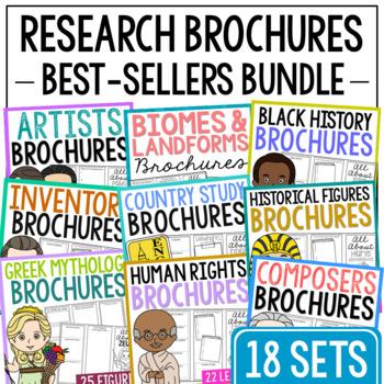 252 Research Brochure Biography Templates BUNDLE, Plus BLANK Brochures