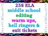 258 crosscuricular STEM and English language arts quick edits