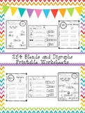 254 Blends and Digraphs Worksheets Download.  ZIP file. 1s
