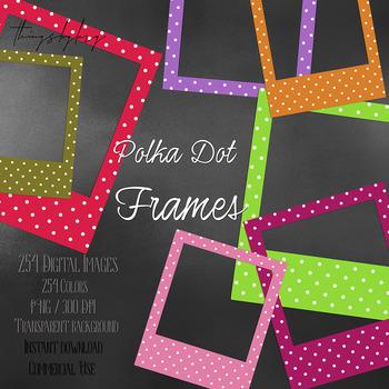 254 Polka Dot Polaroid Photo Booth Baby Shower Photo Frames