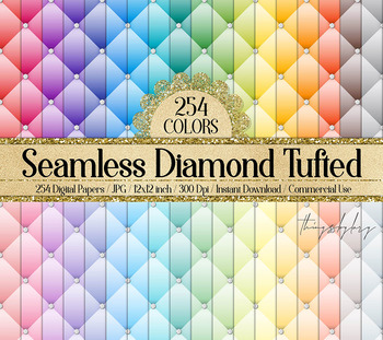 254 Seamless Diamond Upholstery Tufted Quilt Leather Papers