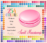 254 Sweet Macaroons French Cookies Digital Images PNG