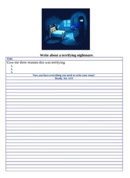 25 page Bundle of Writing prompts, writing checklist, writing rubric