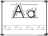 26 8x10 Alphabet Directional Tracing Printable Worksheets
