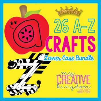 26 A - Z Lower Case Alphabet Letter Craft Bundle (Journey's Aligned)