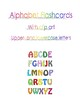 26 Alphabet Flashcards upper- and lowercase letters with clip art