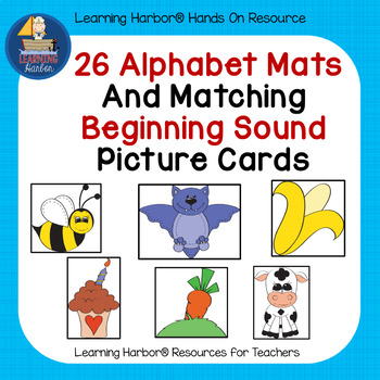 26 Alphabet Mats and Matching Beginning Sound Picture Cards