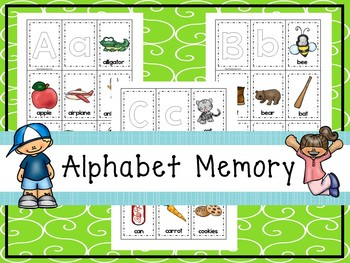 26 Alphabet Memory Matching Printable Games in a ZIP file.