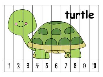 26 Alphabet Numbers Order Puzzles (1-10)
