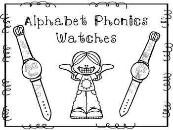 26 Alphabet Phonics Watches Printable Activity in a PDF file.Preschool-KDG.