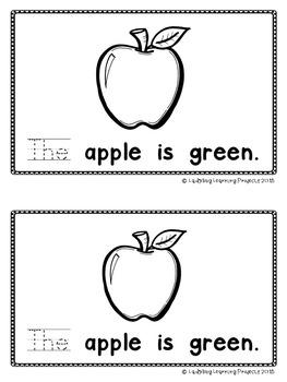 26 Alphabet Sight Word Emergent Readers (Apples to Zebra)