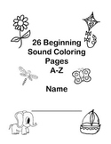 26 Beginning Sound Coloring Pages A-Z