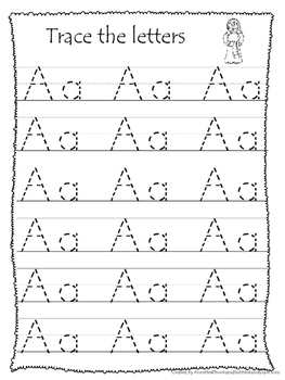 26 Bible Friends Alphabet Tracing Worksheets. Preschool-KDG. Bible ...