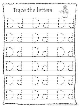26 Bible Friends Alphabet Tracing Worksheets. Preschool ...