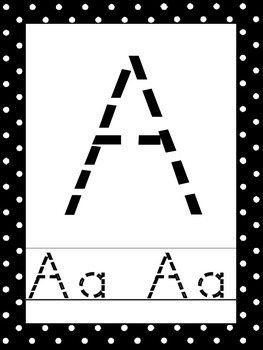 26 Black and White Alphabet Tracing Posters
