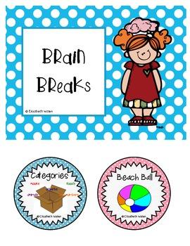 26 Brain / Shake Breaks for the Elementary Classroom