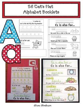 """26 Cat's Hat Alphabet """"Flip the Flap"""" Booklets"""