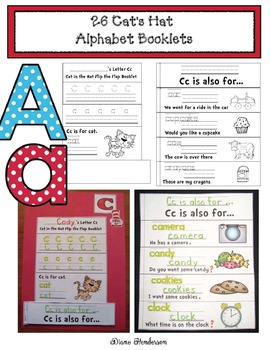 "Seuss Inspired Alphabet Activities: Cat's Hat Alphabet ""Flip the Flap"" Booklets"