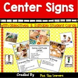 Literacy Center Signs With Objectives | Center Posters