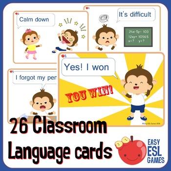 26 Classroom Language cards