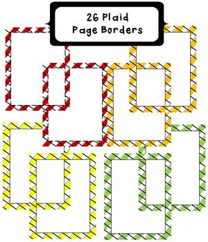 26 Colorful Plaid Borders