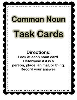 Noun Task Cards (26 cards)