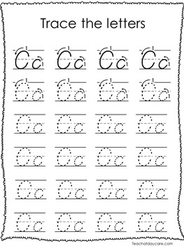 26 D'Nealian Trace the Alphabet Worksheets. Preschool-2nd Grade Handwriting