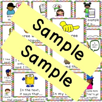 26 Different Common Core  Discussion Prompt Cards With Pictures Grades 1-5