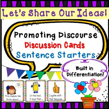 26 Different Common Core  Discussion Prompt Cards With Pic