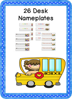 26 Different  Name Plates  Desk Name Tags