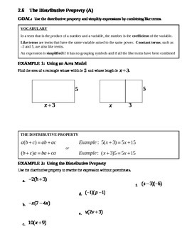 2.6 Distributive Property (A)