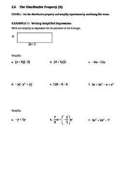 2.6 Distributive Property (B)