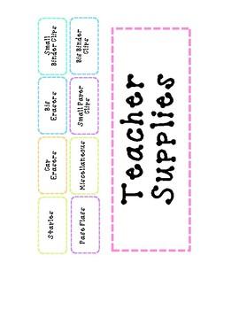 26 Drawer Organizer Labels