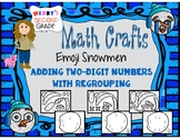 26 EMOJI SNOWMEN MATH CRAFTS Adding Two Digit Numbers with Regrouping