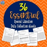 26 Essential Special Education Data Sheets {EDITABLE}