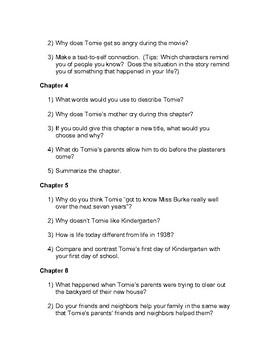 26 Fairmount Avenue Discussion Questions