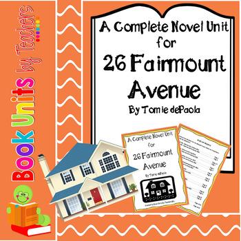 26 Fairmount Avenue by Tomie dePaola Book Unit