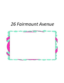 26 Fairmount Avenue Unit with Literary and Grammar Activities
