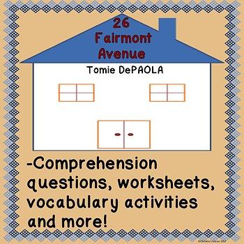 26 Fairmount Avenue book activities worksheets comprehension vocabulary