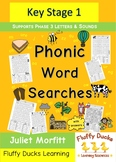 26 Fun Phonics Word Searches Book Phase 3 Graphemes Illustrated ee ai & more
