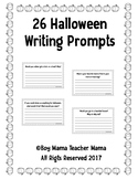 26 Halloween Writing Prompts
