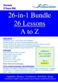 26-IN-1 BUNDLE - 26 Lessons - A to Z (Bundle 1) - Nursery
